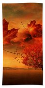 Autumn Blaze Beach Towel