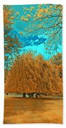 Autumn Blaze Beach Towel