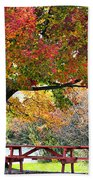Autumn By The River On 105 Beach Towel
