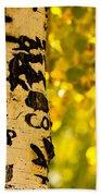 Autumn Carvings Beach Sheet