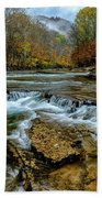 Autumn Cherry Falls Elk River Beach Towel