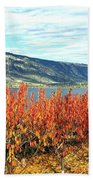 Autumn Cherry Orchard Beach Towel