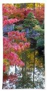 Autumn Color Reflection - Digital Painting Beach Towel