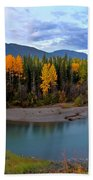 Autumn Colors Along Tanzilla River In Northern British Columbia Beach Towel