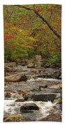 Autumn Colors On Pickle Creek 2 Beach Towel