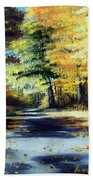 Autumn Colors Beach Towel by Paul Walsh