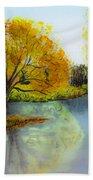 Autumn Colours Beach Sheet