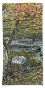 Autumn Comes To The Unami Creek Beach Towel