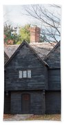 Autumn Comes To The Witch House Beach Towel