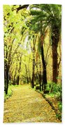 Autumn Corridor Beach Towel