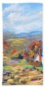 Autumn Cottage Beach Towel