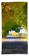 Autumn Country Lane Beach Towel