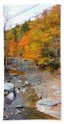 Autumn Creek 3 Beach Towel