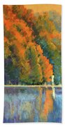 Autumn Day Rising Beach Towel
