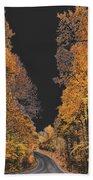 Autumn Drive 2 Beach Towel