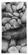 Autumn Epilogue On Black Beach Towel
