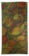 Autumn Falling Beach Sheet