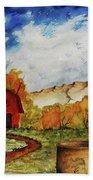 Autumn Farm Beach Towel
