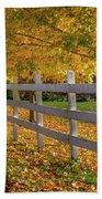 Autumn Fence Beach Towel