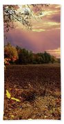 Autumn Fields Beach Towel