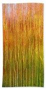 Autumn Fire Abstract Beach Towel