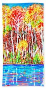 Autumn Foliage Beach Towel