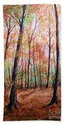 Autumn Forrest Beach Towel