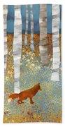 Autumn Fox Beach Towel