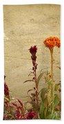 Autumn Garden Beach Towel