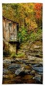 Autumn Glade Creek Grist Mill  Beach Towel