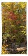 Autumn Glory - Unami Creek Sumneytown Pennsylvania Usa Beach Towel