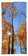 Autumn Gold Sunburst Beach Towel