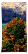 Autumn Hedgerow Beach Towel