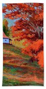 Autumn Hillside Beach Towel