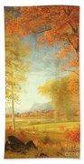 Autumn In America Beach Sheet