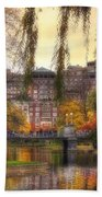 Autumn In Boston Garden Beach Towel