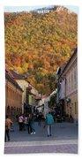 Autumn In Brasov Beach Sheet