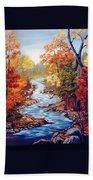Autumn In Cunningham Park  Beach Towel