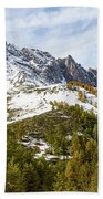 Autumn In French Alps - 18 Beach Towel