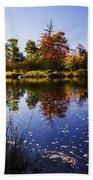 Autumn In Maine Usa Beach Towel