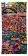 Autumn In New England Beach Sheet