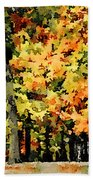Autumn In Olde Virginia Beach Towel