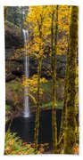 Autumn In Silver Falls Beach Towel