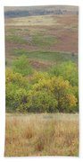Autumn In Slope County Beach Towel