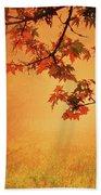Autumn In The Fog. Beach Towel