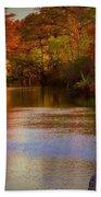 Autumn In The Park Beach Towel