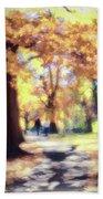 Autumn In The Park Beach Sheet