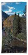 Autumn In The Rockies Beach Towel