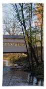 Autumn In Valley Forge - Knox Covered Bridge Beach Towel