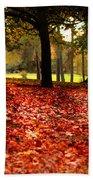 Autumn In Woodthorpe Beach Sheet
